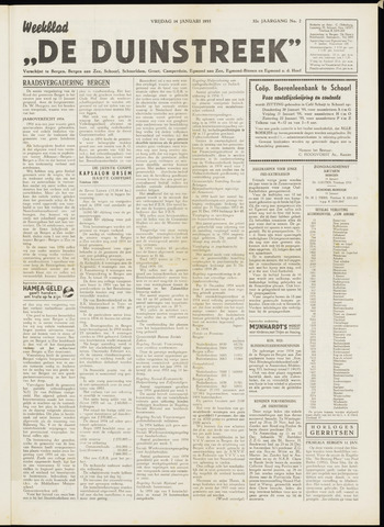 De Duinstreek 1955-01-14