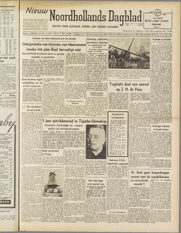 Nieuw Noordhollandsch Dagblad : voor Alkmaar en omgeving 1949-02-23