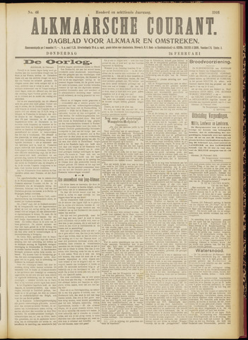 Alkmaarsche Courant 1916-02-24