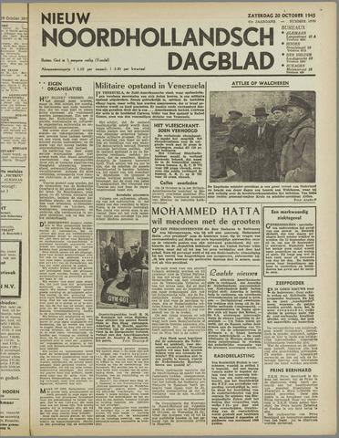 Nieuw Noordhollandsch Dagblad : voor Alkmaar en omgeving 1945-10-20
