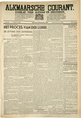 Alkmaarsche Courant 1933-09-25