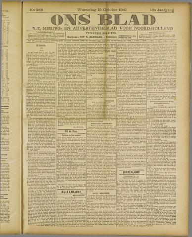 Ons Blad : katholiek nieuwsblad voor N-H 1919-10-15