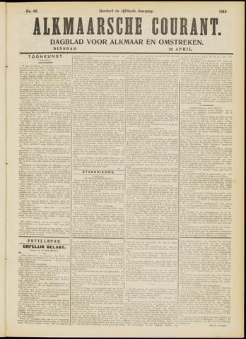 Alkmaarsche Courant 1913-04-22