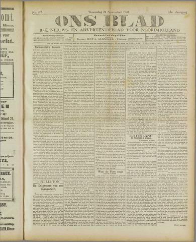 Ons Blad : katholiek nieuwsblad voor N-H 1920-11-24