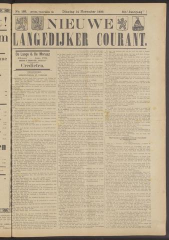 Nieuwe Langedijker Courant 1922-11-14