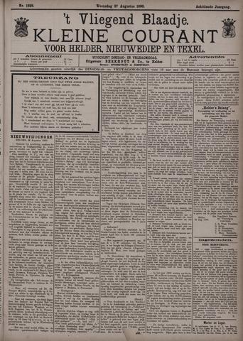 Vliegend blaadje : nieuws- en advertentiebode voor Den Helder 1890-08-27