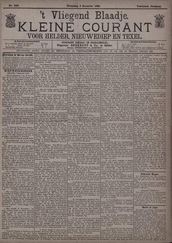 Vliegend blaadje : nieuws- en advertentiebode voor Den Helder 1886-12-08