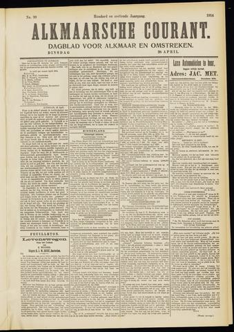 Alkmaarsche Courant 1914-04-28