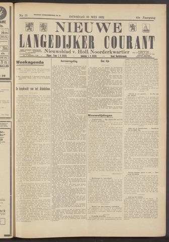 Nieuwe Langedijker Courant 1932-05-10