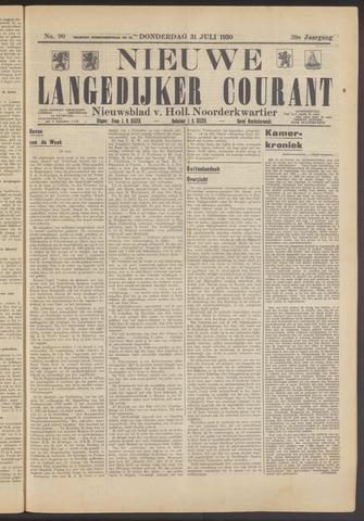 Nieuwe Langedijker Courant 1930-07-31