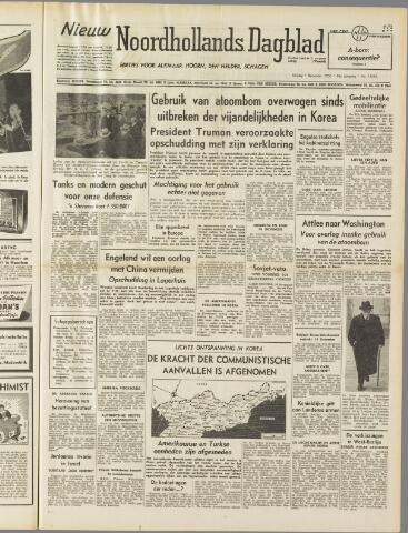 Nieuw Noordhollandsch Dagblad : voor Alkmaar en omgeving 1950-12-01