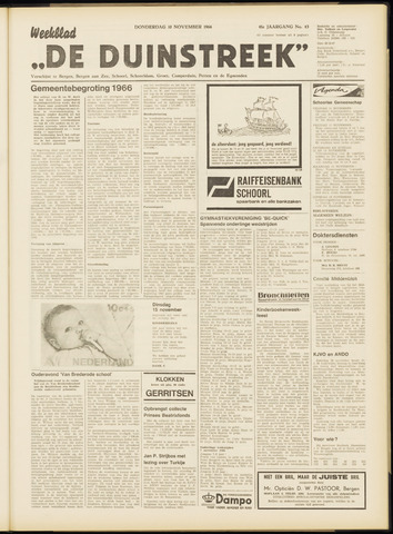 De Duinstreek 1966-11-10