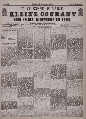 Vliegend blaadje : nieuws- en advertentiebode voor Den Helder 1880-12-10