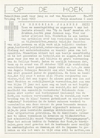 Op De Hoek, weekblad voor Akersloot 1963-06-14