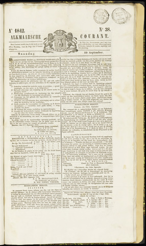 Alkmaarsche Courant 1842-09-19