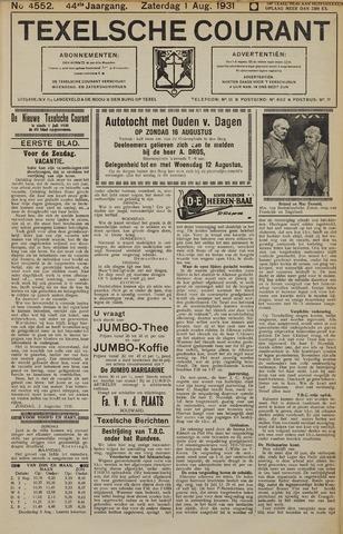 Texelsche Courant 1931-08-01