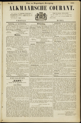 Alkmaarsche Courant 1892-05-20