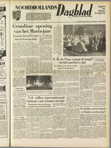 Noordhollands Dagblad : dagblad voor Alkmaar en omgeving 1953-12-09