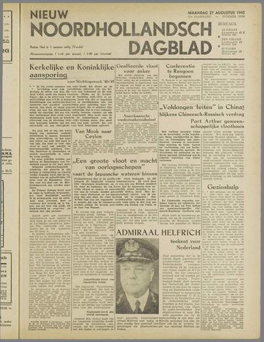 Nieuw Noordhollandsch Dagblad : voor Alkmaar en omgeving 1945-08-27