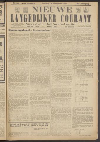 Nieuwe Langedijker Courant 1928-12-18