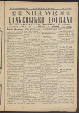 Nieuwe Langedijker Courant 1930-02-11