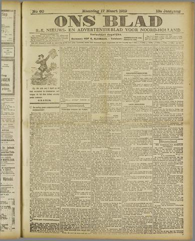 Ons Blad : katholiek nieuwsblad voor N-H 1919-03-17