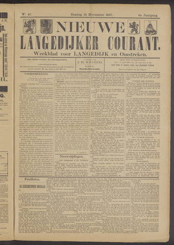 Nieuwe Langedijker Courant 1897-11-21