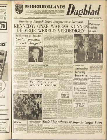Noordhollands Dagblad : dagblad voor Alkmaar en omgeving 1961-09-01