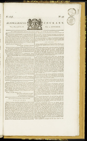 Alkmaarsche Courant 1838-09-03