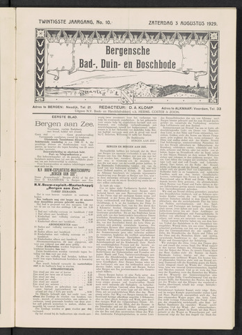 Bergensche bad-, duin- en boschbode 1929-08-03