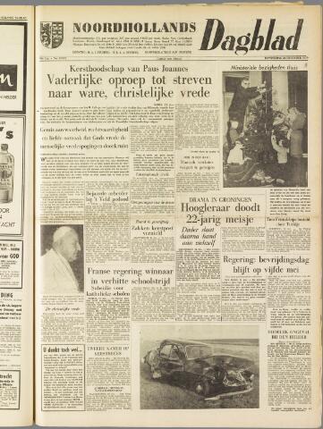 Noordhollands Dagblad : dagblad voor Alkmaar en omgeving 1959-12-24