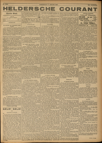 Heldersche Courant 1924-01-17