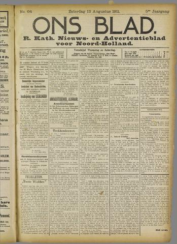 Ons Blad : katholiek nieuwsblad voor N-H 1911-08-12