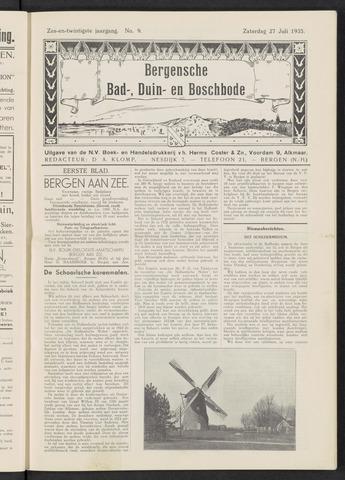 Bergensche bad-, duin- en boschbode 1935-07-27