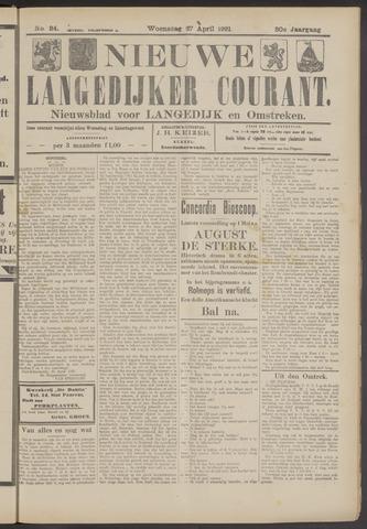 Nieuwe Langedijker Courant 1921-04-27