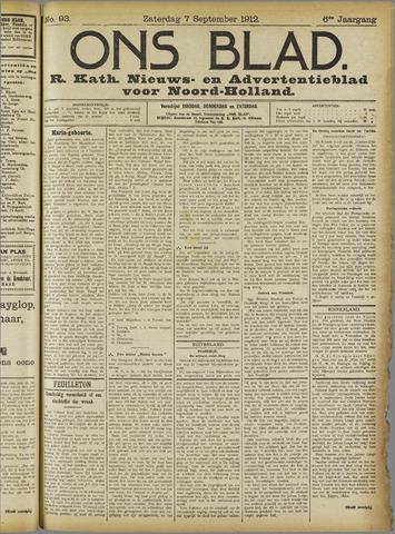Ons Blad : katholiek nieuwsblad voor N-H 1912-09-07