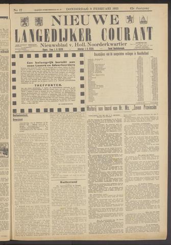 Nieuwe Langedijker Courant 1933-02-09
