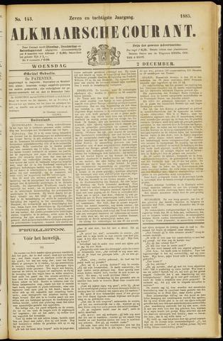 Alkmaarsche Courant 1885-12-02