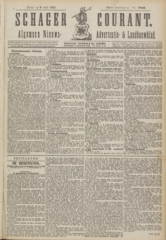 Schager Courant 1920-07-06