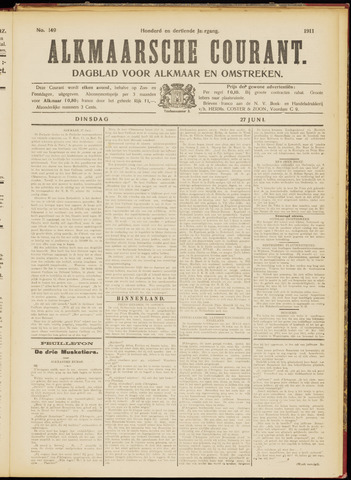 Alkmaarsche Courant 1911-06-27
