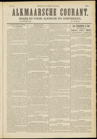 Alkmaarsche Courant 1914-04-11