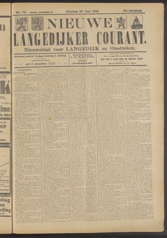 Nieuwe Langedijker Courant 1922-06-20