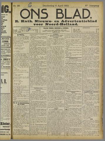 Ons Blad : katholiek nieuwsblad voor N-H 1912-04-04