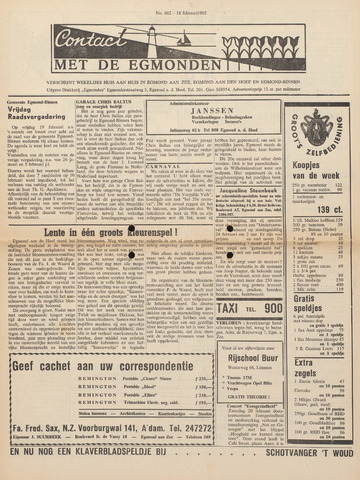 Contact met de Egmonden 1965-02-18
