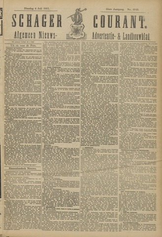 Schager Courant 1911-07-04