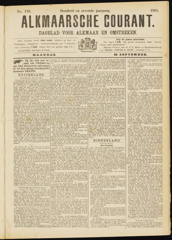 Alkmaarsche Courant 1905-09-25