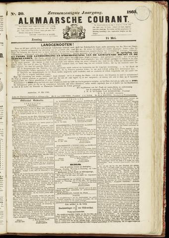 Alkmaarsche Courant 1865-05-14