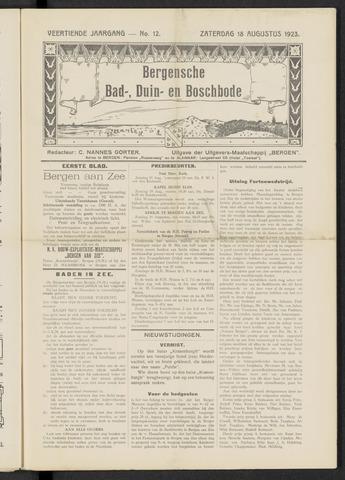 Bergensche bad-, duin- en boschbode 1923-08-18