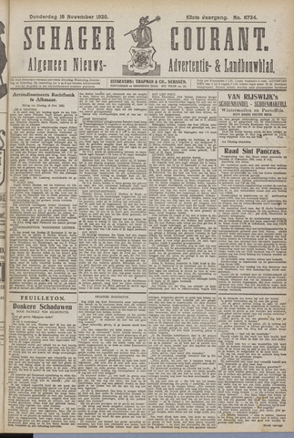 Schager Courant 1920-11-18