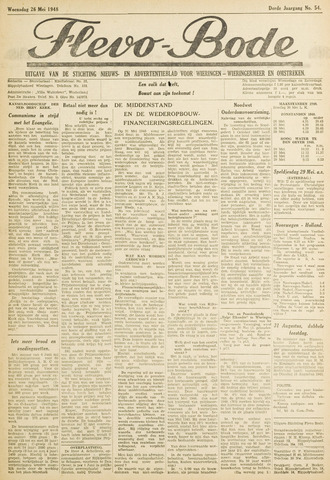 Flevo-bode: nieuwsblad voor Wieringen-Wieringermeer 1948-05-26